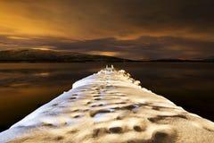 Pijler in Noorwegen Royalty-vrije Stock Afbeeldingen