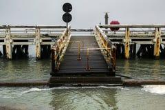 Pijler in Oostende, België royalty-vrije stock fotografie