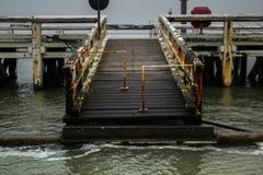 Pijler in Oostende, België royalty-vrije stock foto