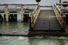Pijler in Oostende, België stock foto's