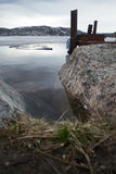 Pijler op Arno Lake royalty-vrije stock afbeelding
