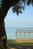Pijler op baai stock afbeelding