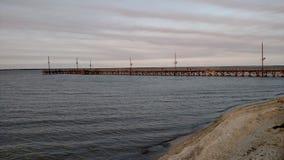 Pijler op de baai stock afbeeldingen