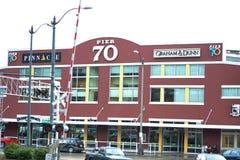 Pijler 70 op de waterkant in Seattle, Washington Stock Fotografie