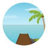 Pijler op het eiland Royalty-vrije Stock Foto's