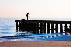 pijler, op het strand royalty-vrije stock foto's
