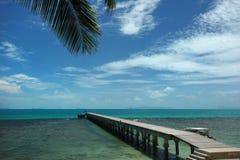 Pijler op het strand Royalty-vrije Stock Fotografie