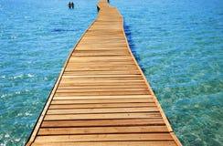 Pijler op het strand royalty-vrije stock foto's