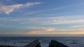 Pijler op het strand Stock Fotografie