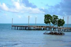 Pijler op het water stock afbeelding