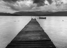 Pijler op Loch Lomond stock foto