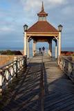 Pijler op Meer Llanquihue royalty-vrije stock fotografie