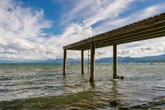 Pijler op Meer Tahoe stock foto's
