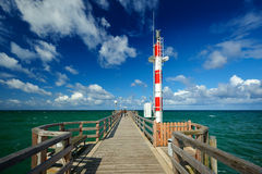 pijler op zee Wustrow Stock Afbeelding