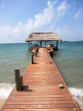 Pijler, Placencia Belize Stock Foto