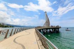 Pijler in Puerto Vallarta, Mexico stock foto's