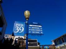 pijler 39 in San Francisco bij de pijler Royalty-vrije Stock Foto's