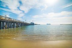 Pijler in Santa Barbara royalty-vrije stock afbeelding