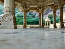 Pijler van Chatriya van Gator ki chatriya de Oude Traditionele, oude architectuur royalty-vrije stock afbeelding