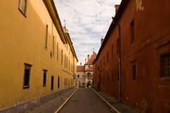 Pijler van de de stadsstad van Levoca de oude stock fotografie