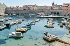 Pijler van de Dubrovnik de oude stad Royalty-vrije Stock Afbeeldingen