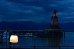 pijler van de haven van stadslindau Royalty-vrije Stock Foto