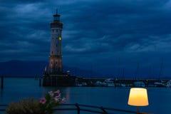 pijler van de haven van stadslindau Royalty-vrije Stock Foto's