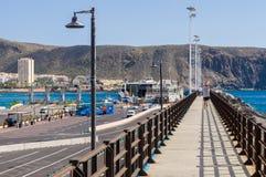 Pijler van de Los Cristianos haven, Tenerife Stock Fotografie