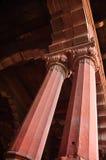 Pijler van Rood Fort van Delhi stock foto's