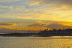 Pijler van Suset de gouden Santa Barbara royalty-vrije stock foto