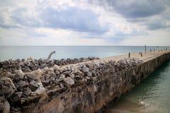 Pijler van zeeschelpen wordt gemaakt die royalty-vrije stock afbeelding
