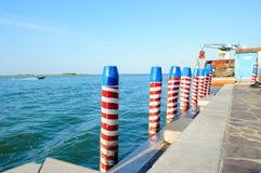 Pijler in Venetië Stock Afbeelding