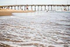 Pijler in Virginia Beach royalty-vrije stock afbeeldingen