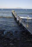 Pijler voor cruiseboten Stock Foto