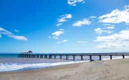 Pijler in Vreedzame Oceaan in Hawaï Stock Fotografie
