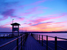 pijler in zonsondergang royalty-vrije stock afbeeldingen