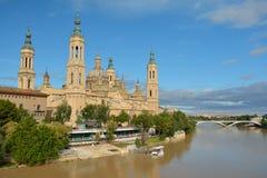 Pijlerbasiliek in Zaragoza, Saragossa, Spanje Royalty-vrije Stock Fotografie