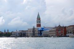 Pijlergondel in Venetië Royalty-vrije Stock Afbeelding