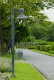 Pijlerlicht in het park royalty-vrije stock afbeeldingen