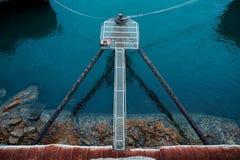 Pijlers bij de steenkoollader, waverton, NSW royalty-vrije stock foto