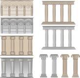 Pijlers en kolommenillustraties vector illustratie