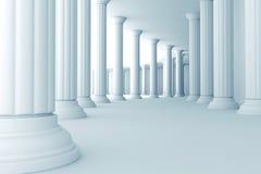 Pijlers in gang Royalty-vrije Stock Afbeelding