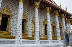 Pijlers van de Thaise tempel van Wat Arun in Bangkok, Stock Foto