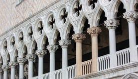 Pijlers van het Paleis van de Doge in Venetië Royalty-vrije Stock Afbeelding