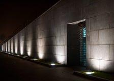 Pijlers van licht op muur Royalty-vrije Stock Afbeeldingen
