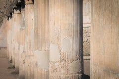 Pijlers van Pompei Stock Foto