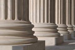 Pijlers van Wet en Rechtvaardigheid Royalty-vrije Stock Foto's