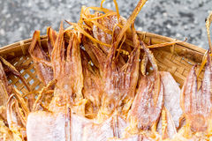Pijlinktvis droog voedsel Royalty-vrije Stock Foto's