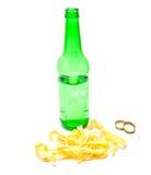 Pijlinktvisringen en bier Stock Fotografie