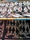 Pijlinktvissen op het net stock fotografie